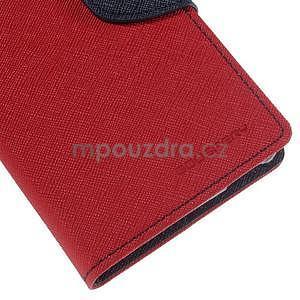 Ochranné puzdro pre Sony Xperia M4 Aqua - červené/tmavomodré - 6