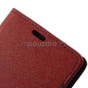 Fancy Peňaženkové puzdro pre mobil Sony Xperia Z1 - červené - 6