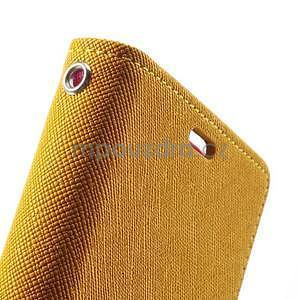 Fancy Peňaženkové puzdro pre mobil Sony Xperia Z1 - žlté - 6