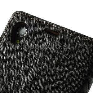Fancy peněženkové pouzdro na mobil Sony Xperia Z1 - černé/hnědé - 6