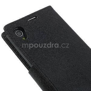 Fancy Peňaženkové puzdro pre mobil Sony Xperia Z1 - čierne - 6