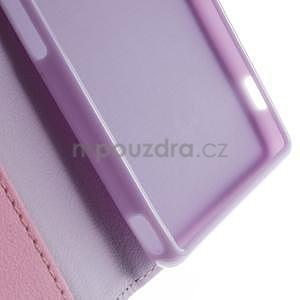 Koženkové pouzdro na Sony Xperia Z3 - fialové - 6