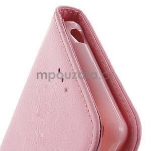 Koženkové puzdro pre Sony Xperia Z3 - ružové - 6