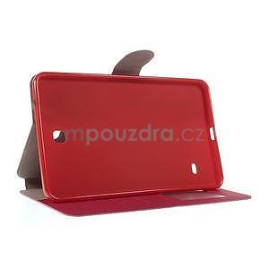 PU kožené puzdro pre tablet peňaženkové Samsung Galaxy Tab 8.0 4 -  magenta - 6