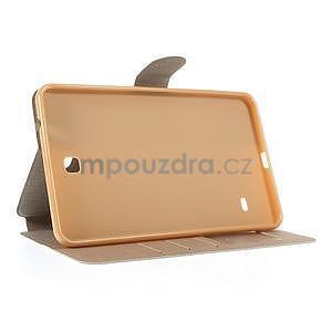 PU kožené puzdro pre tablet peňaženkové Samsung Galaxy Tab 8.0 4 - champagne - 6