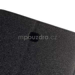 Čierne peňaženkové puzdro Goospery na tablet Samsung Galaxy Tab 8.0 4 - 6