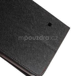 Čierne/hnedé peňaženkové puzdro Goospery na tablet Samsung Galaxy Tab 8.0 4 - 6