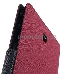Rose peňaženkové puzdro Goospery na tablet Samsung Galaxy Tab 8.0 4 - 6