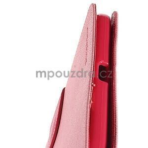 Ružové peňaženkové puzdro Goospery na tablet Samsung Galaxy Tab 8.0 4 - 6