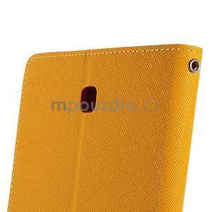 Žlté peňaženkové puzdro Goospery na tablet Samsung Galaxy Tab 8.0 4 - 6