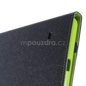 Modré peňaženkové puzdro Goospery pre tablet Samsung Galaxy Tab 8.0 4 - 6