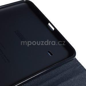 Fialové peňaženkové puzdro Goospery pre tablet Samsung Galaxy Tab 8.0 4 - 6