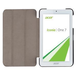 Trifold polohovatelné puzdro pre tablet Acer Iconia One 7 B1-770 - oranžové - 6