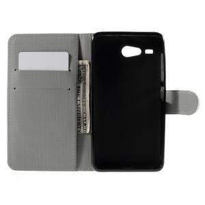 Nice koženkové puzdro pre mobil Acer Liquid Z520 - trojújelníky - 6