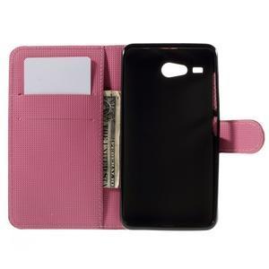 Nice koženkové pouzdro na mobil Acer Liquid Z520 - fialové květy - 6