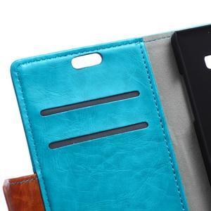 Lines PU kožené puzdro pre Acer Liquid Z530 - modré - 6