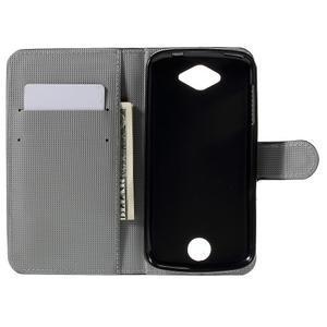 Valet peňaženkové puzdro pre Acer Liquid Z530 - biely kvet - 6