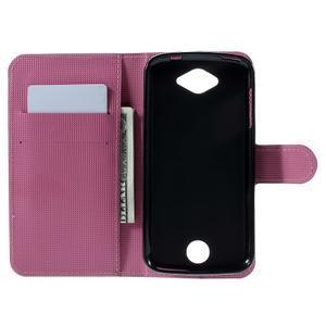 Valet peňaženkové puzdro pre Acer Liquid Z530 - fialové kvety - 6