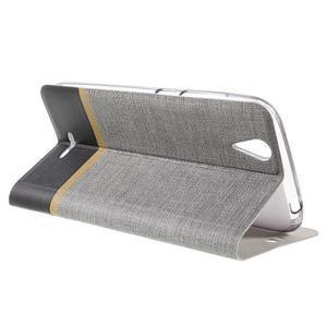 Klopové puzdro pre mobil Acer Liquid Z630 - šedé - 6