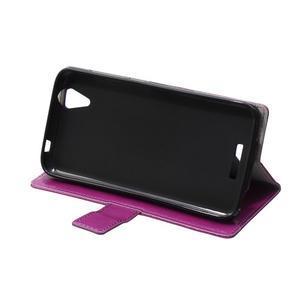 Leat PU kožené puzdro pre mobil Acer Liquid Z630 - fialové - 6
