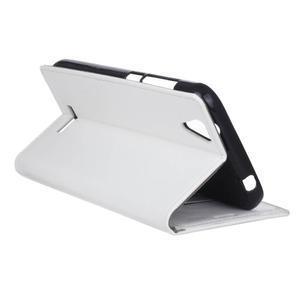 Leat PU kožené puzdro pre mobil Acer Liquid Z630 - biele - 6