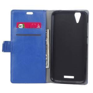Leat PU kožené puzdro pre mobil Acer Liquid Z630 - modré - 6