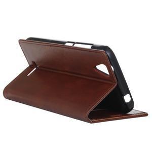 Leat PU kožené puzdro pre mobil Acer Liquid Z630 - hnedé - 6