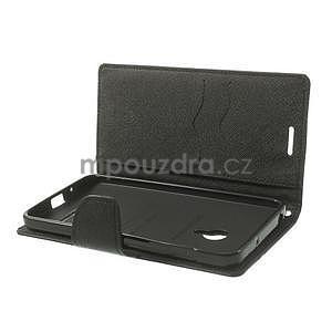 Čierné kožené puzdro Asus Zenfone 5 - 6