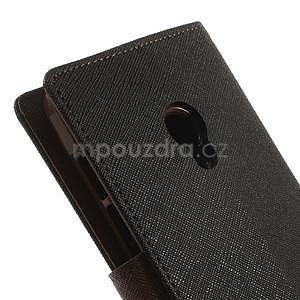 Čierné/hnedé peňaženkové puzdro na Asus Zenfone 5 - 6