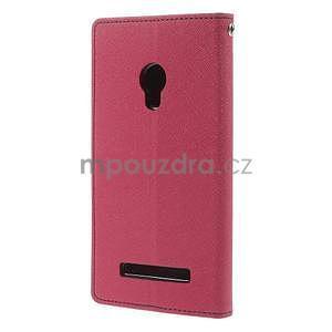 Rose/tmavě modré peňaženkové puzdro na Asus Zenfone 5 - 6