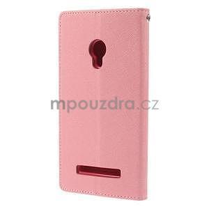 Růžové/rose peňaženkové puzdro na Asus Zenfone 5 - 6