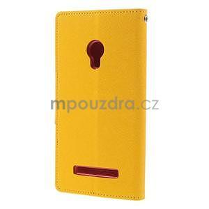 Žluté/rose peňaženkové puzdro na Asus Zenfone 5 - 6