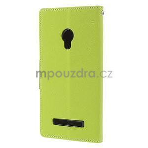 Zelené/tmavo modré peňaženkové puzdro pre Asus Zenfone 5 - 6