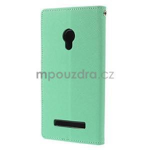 Azurové/tmavě modré peňaženkové puzdro na Asus Zenfone 5 - 6