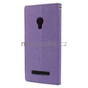 Fialové/tmavě modré peňaženkové puzdro na Asus Zenfone 5 - 6