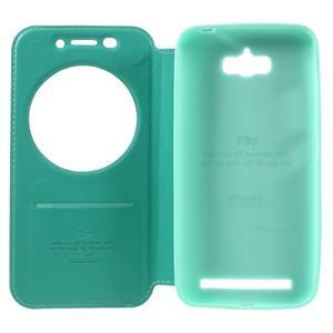 Luxusní puzdro s okienkom pre mobil Asus Zenfone Max - cyan - 6