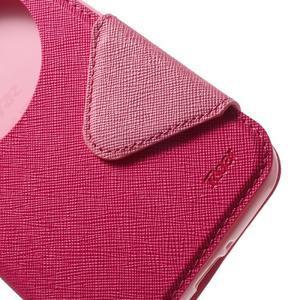 Diary peněženkové pouzdro s okýnkem na Asus Zenfone Max - rose - 6