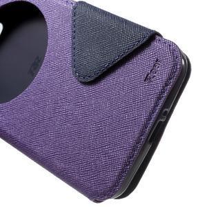 Diary peněženkové pouzdro s okýnkem na Asus Zenfone Max - fialové - 6