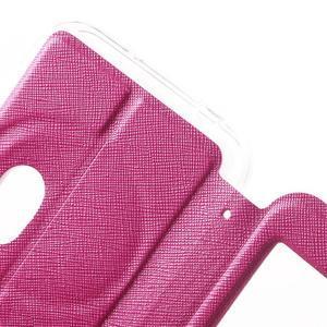 Peněženkové pouzdro s okýnkem na Asus Zenfone Zoom - rose - 6