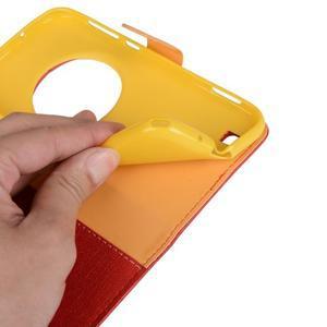 PU kožené puzdro pre Asus Zenfone Zoom - červené - 6