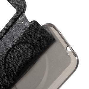 Peněženkové pouzdro s okýnkem na Asus Zenfone Zoom - černé - 6