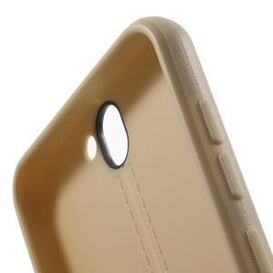 Lines gélové puzdro na mobil HTC One A9 -  champagne - 6