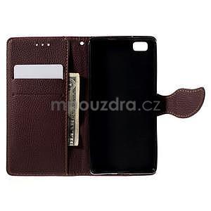 Zapínací PU kožené pouzdro na Huawei P8 Lite -rose - 6