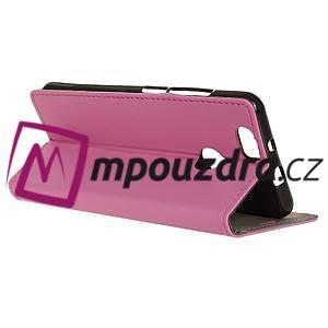 Wally PU kožené puzdro na mobil Huawei Nova - ružové - 6