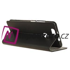 Wally PU kožené puzdro na mobil Huawei Nova - čierne - 6