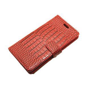 Croco peněženkové pouzdro na Huawei P9 - červené - 6