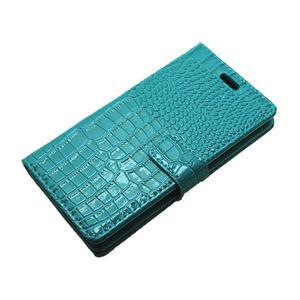 Croco peněženkové pouzdro na Huawei P9 - modré - 6