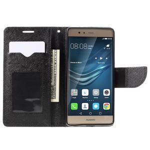 Crossy peňaženkové puzdro na Huawei P9 - čierne - 6
