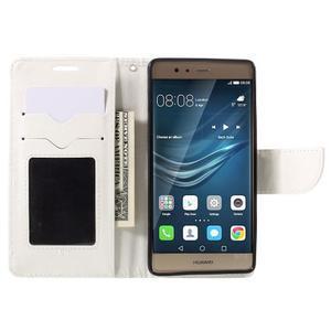 Crossy peněženkové pouzdro na Huawei P9 - bílé - 6