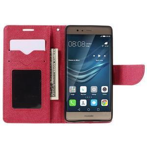 Crossy peňaženkové puzdro na Huawei P9 - červené - 6